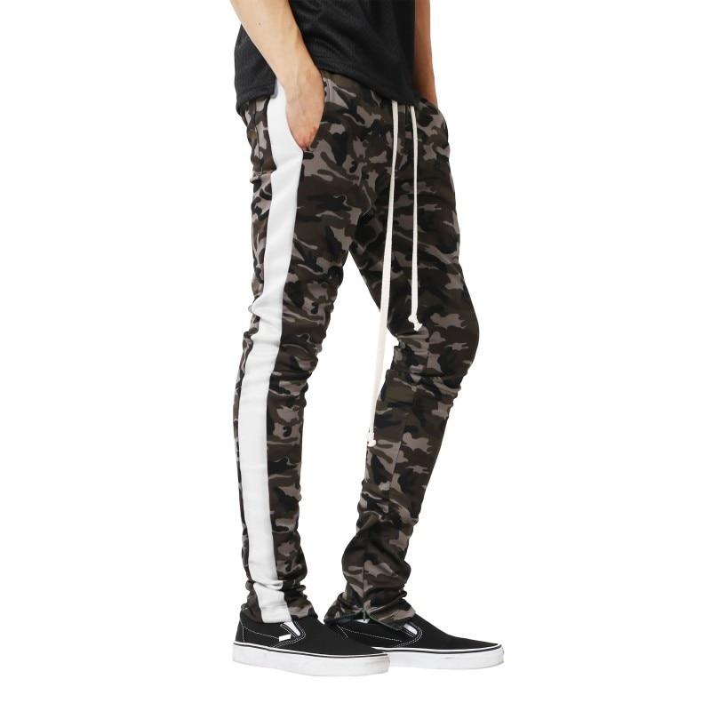 Nuevos Pantalones Camuflados Para Hombres A Rayas Laterales Con Cremallera Joggers Pantalones Lapiz Hombres Hip Hop Pantalones De Chandal Pantalon Hombre Streetwear Pantalones Hombres Pantalones Informales Aliexpress