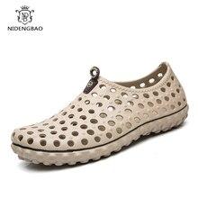 Летние новые сандалии отверстие обувь мужчины тапочки быстросохнущие открытый пляж обувь мужчины удобные мягкие дышащий Повседневная обувь мужчин