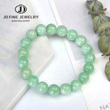 Jd natural mianmar verde jade pulseira 6/8/10mm contas temperamento jóias jóias acessórios presentes pulseira atacado