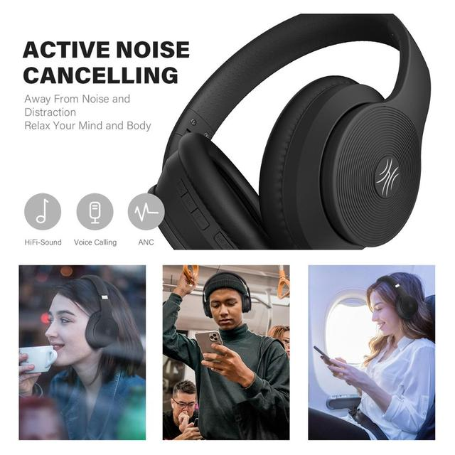 Wireless  Active Noise Cancelling Bluetooth Headphone