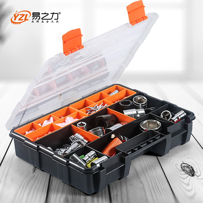 ABS kunststoff Tragbare Teile Box Schraube Lagerung Box Metall Teile Hardware werkzeug Schraubendreher auto repair tool box