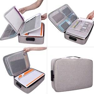 Image 1 - Belge bilet çantası büyük kapasiteli sertifikaları dosyaları organizatör ev seyahat kullanımı için saklamak için önemli ürünler