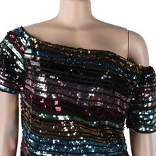 European and American summer hot styles, colorful sequins, round neckline with lining, tops, nightclub clothes