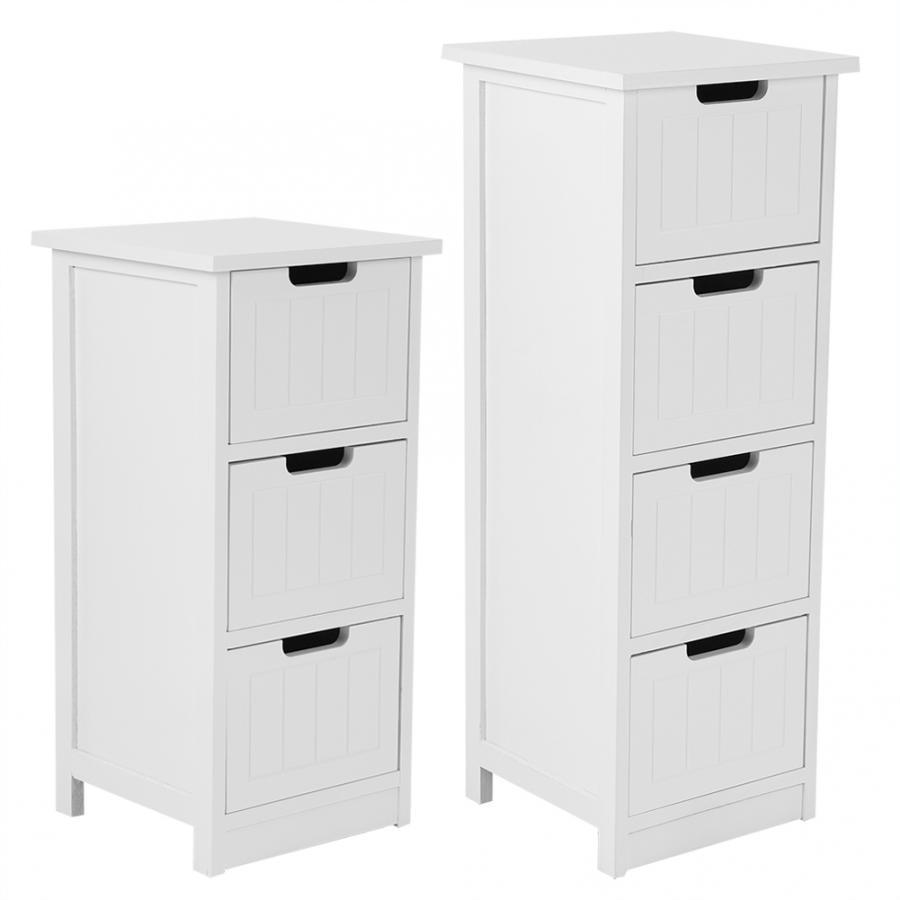 Drawer Type Bathroom Cabinet Standing Storage Cupboard Bathroom Furniture White Bathroom Storage Cabinet