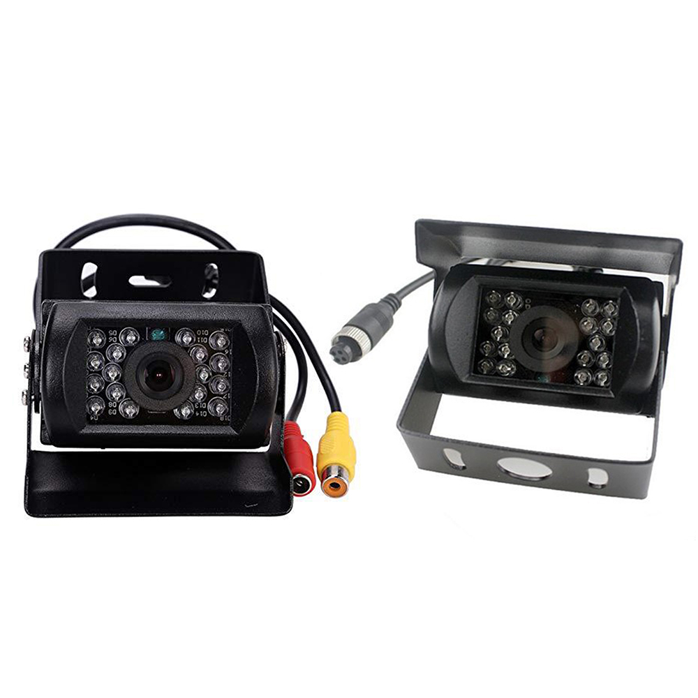Waterproof 18 LED IR Night Vision Car Rear View Reversing Parking Backup Camera For 12V 24V Bus Truck Motorhome Van New