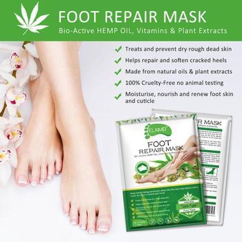2 uds aceite esencial eficaz hidratante exfoliante de mano máscara guante colágeno cuidado de la piel mano Exfoliat máscara de pie