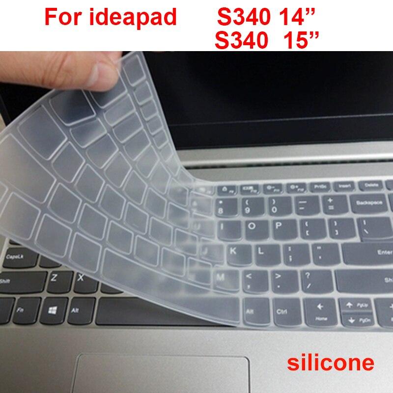 Моющаяся Крышка для клавиатуры ноутбука Lenovo IdeaPad S340 S540 14 S340-14 15, Силиконовая Водонепроницаемая пленка для защиты ноутбука