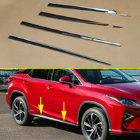 Chrome Side Door Body Molding Cover Trim Fit For Lexus RX200t RX350 RX450h 2016 2017 2018 2019 Exterior Accessories Strips