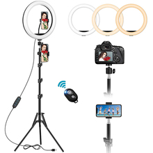 160CM Tripod Stand Phone Holder Selfie Makeup Streaming YouTube Ringlight Photography Lamp Remote LED Circle Fill Ring Light