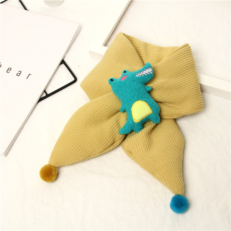 2019 Baby Stuff Accessories Winter Scarf Kids Solid Color Knitted Scarves 3D Cartoon Warm Scarf For Boys Girls Gifts Props
