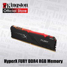 Kingston memória ram ddr4, memória ram ddr4 para kingston hyperx fury ddr4 rgb 3200mhz ddr4 cl16 dimm xmp 8gb 16gb rams de memória do desktop
