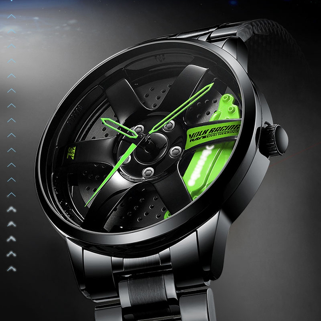 NIBOSI 2020 Car Rim Hub Wheel Watch Custom Design Car Rim Sports Wheel Watch Waterproof Creative Male Watches Men's Wristwatch 1