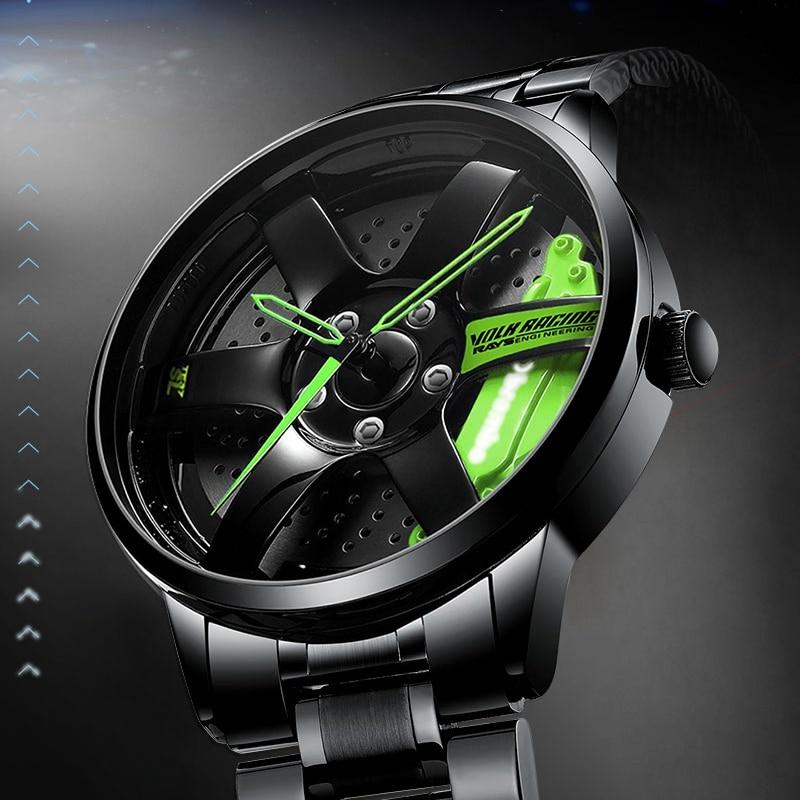 NIBOSI 2020 Car Rim Hub Wheel Watch Custom Design Car Rim Sports Wheel Watch Waterproof Creative Male Watches Men's Wristwatch