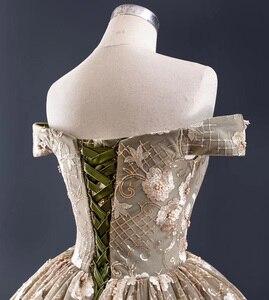 Image 5 - J67081 jancember Khaki plus size long evening gowns boat neck off shoulder appliques dubai evening dresses sukienki wieczorowe