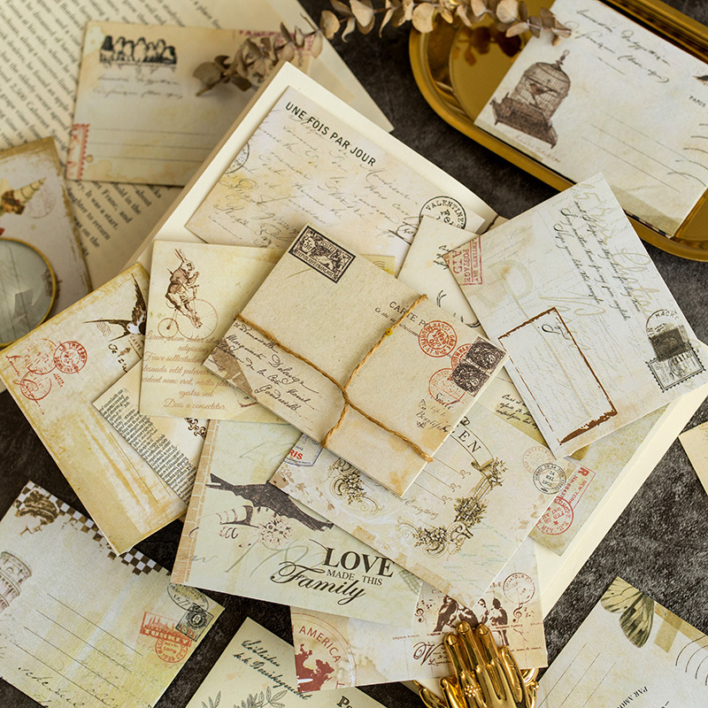 12pcs Mini Retro Paper Envelopes European Style Envelopes Scrapbooking Gift Paper Card Envelopes Can Matach With Paint Seal