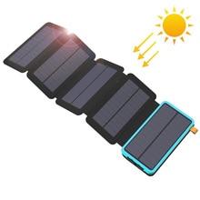 20000Mah Solar Power Bank Real Zonne energie Opladen Telefoon Externe Batterij Oplader Voor Iphone Ipad Samsung Huawei Xiaomi Lg Sony.
