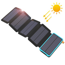 20000mAh Solar Power Bank Real Solar Charging Phone External