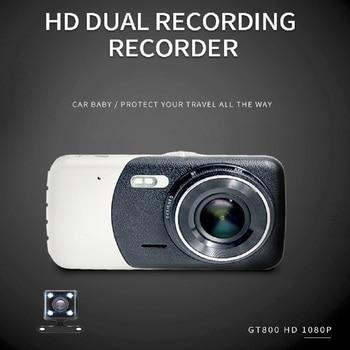 Jabriel HD1080P 170° Dual Lens Car DVR 3.8 Inch IPS Display Portable Dash Camera car video recorder Revers Image G-sensor  HDMI