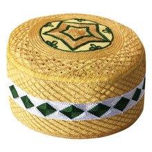 Мужские Арабские исламские молитвенные шляпы топи африканские Kippah головной убор s мусульманская индийская еврейская шляпа желтый Бог Musulman Hombre Кепка boina
