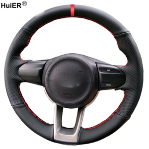 Hand Sewing Car Steering Wheel Cover Volant Funda Volante For Kia Rio 2017 2018 2019 2020 Rio5 2019 K2 17-20 Picanto Morning