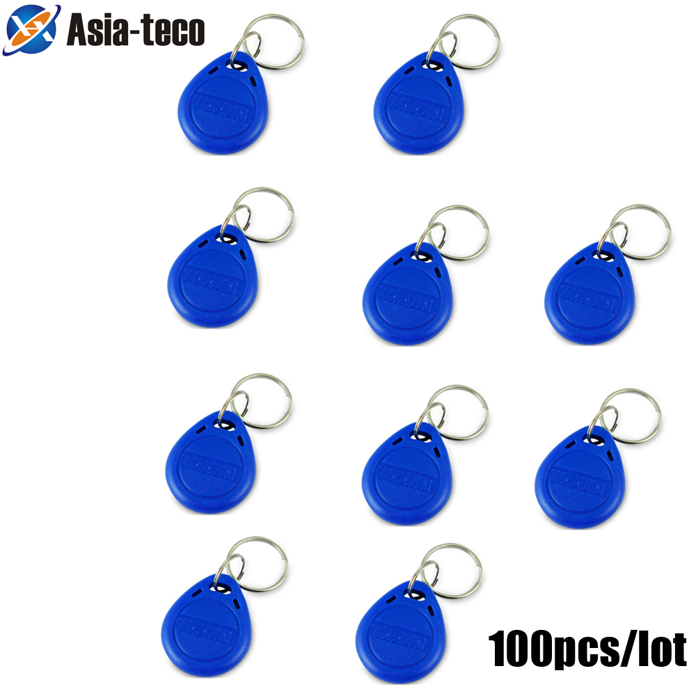 100pcs/lot 125khz RFID Keychain Stickers Card Tag Key ID Keyfob  TK4100 Door Entry Access Control EM Key Chain Token