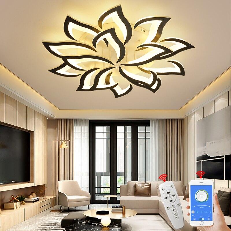 NEO Gleam Moderne led Kronleuchter Für Wohnzimmer Schlafzimmer Studie Raum durch sala Moderne Led Decke Kronleuchter Lampe Leuchten 90-260V