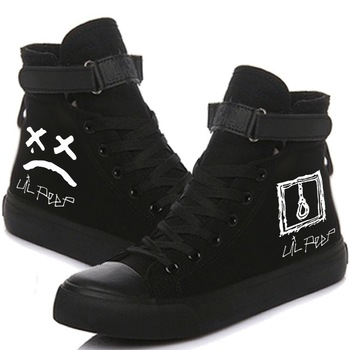e lov printed boo a madea halloween canvas shoes low top women casual leisure shoes happy halloween gifts Canvas Shoes Singer Lil Peep Printed High-top Shoes Casual Cozy Breathable Sneakers For Women And Men