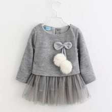 Menoea Baby Dress Autumn Cute Baby Girl Princess Dress Solid Kids Clothes Dress Baby Girl Winter Clothes menoea baby outerwear