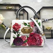купить Brand Women Handbags Big High Quality Real Leather Letter Female Bag Designer Bolsos Mujer Sac A Main Totes  Bags for Women 2019 по цене 7608.63 рублей