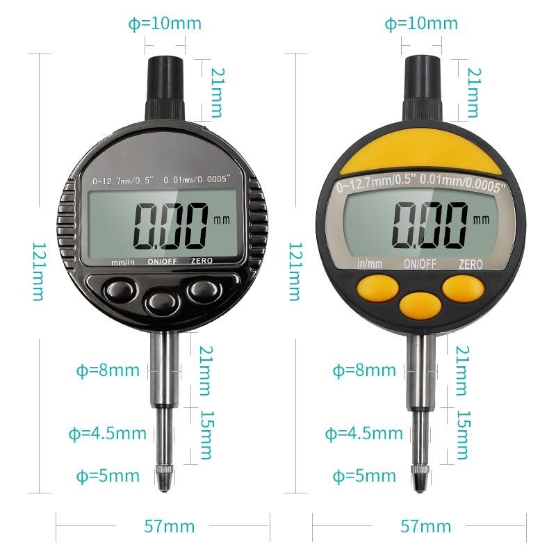 Industrial IP54 waterproof digital indicator 0-12.7mm 0.01mm 0.0005