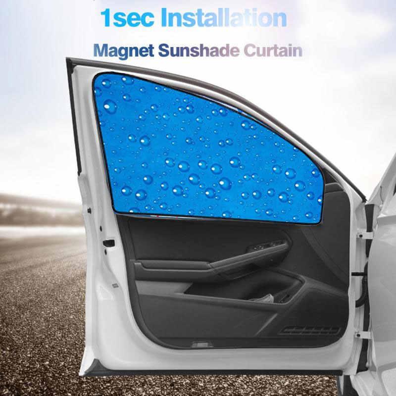 Voiture pare-soleil Auto pare-soleil magnétique voiture rideau gauche Protection solaire monocouche goutte d'eau Durable