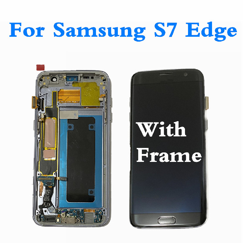 AMOLED <font><b>LCD</b></font> For <font><b>Samsung</b></font> S7 Edge <font><b>G935</b></font> <font><b>LCD</b></font> Dispaly Screen Touch Panel Digitizer For <font><b>Samsung</b></font> S7Edge G935F Display Screen Frame image