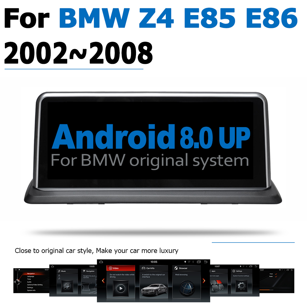 Android 8.0 2+32 Car DVD Navi Player For BMW Z4 E85 E86 2002~2008 Audio Stereo HD Touch Screen WiFi Bluetooth original style