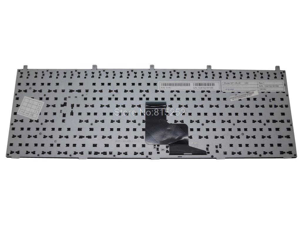 Laptop Keyboard for CLEVO W150DAQ W150ERM W150ERQ W150HNM W150HNQ W150HRM W150HRQ W15XDAQ W170ER W170HN W170HNM W170HR United States US Black Frame with Backlit