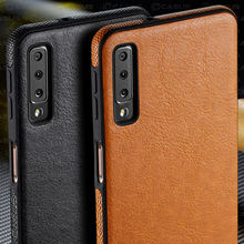 For Samsung Galaxy A10 A50 Case Luxury Vintage PU Leather Back Thin Cover Case For Samsung Galaxy A30 A40 A70 M10 M20 2019 Case tanie tanio E CASUS Fitted Case Luxury PU Leather Thin TPU Case GALAXY A50 GALAXY M10 GALAXY M20 Geometric waterproof Dirt-resistant