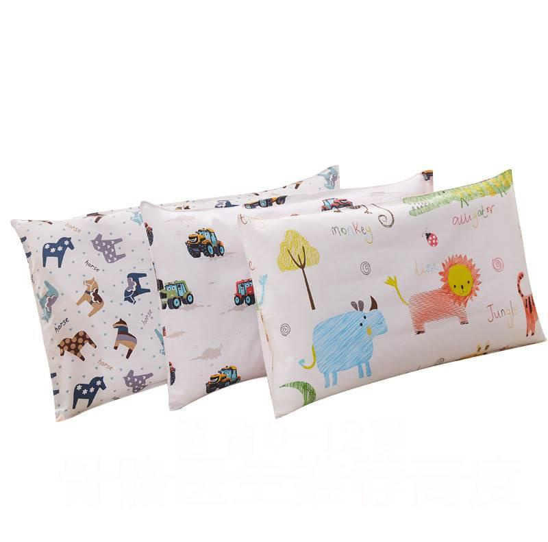 30x50cm Length Children Pillow Crib Bedding Baby Pillow Pure Cotton Kids Head Cushion For 0-3 Years Old Baby Cartoon Pillow