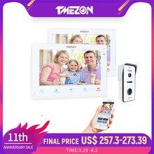 TMEZON/Wireless Wifi inteligente timbre de Video de IP Intercom Sistema de 10 pulgadas + 7 pulgadas Monitor de pantalla con 1x720P con cable de la puerta teléfono Cámara
