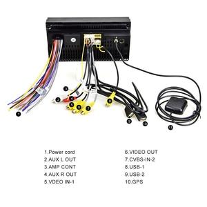 Image 5 - AMPrime Samochodowy odtwarzacz multimedialny 2 DIN z GPS, 7 calowy ekran, Android, Bluetooth, radio FM, wsparcie stereo, wejścia USB i AUX, MP5