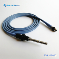 4X2500mm 2.5 3.0m Olympus Storz Medical Endoscope Fiber optical fiber Silicone Cable Surgical Light Lamp Source Microscope Guide