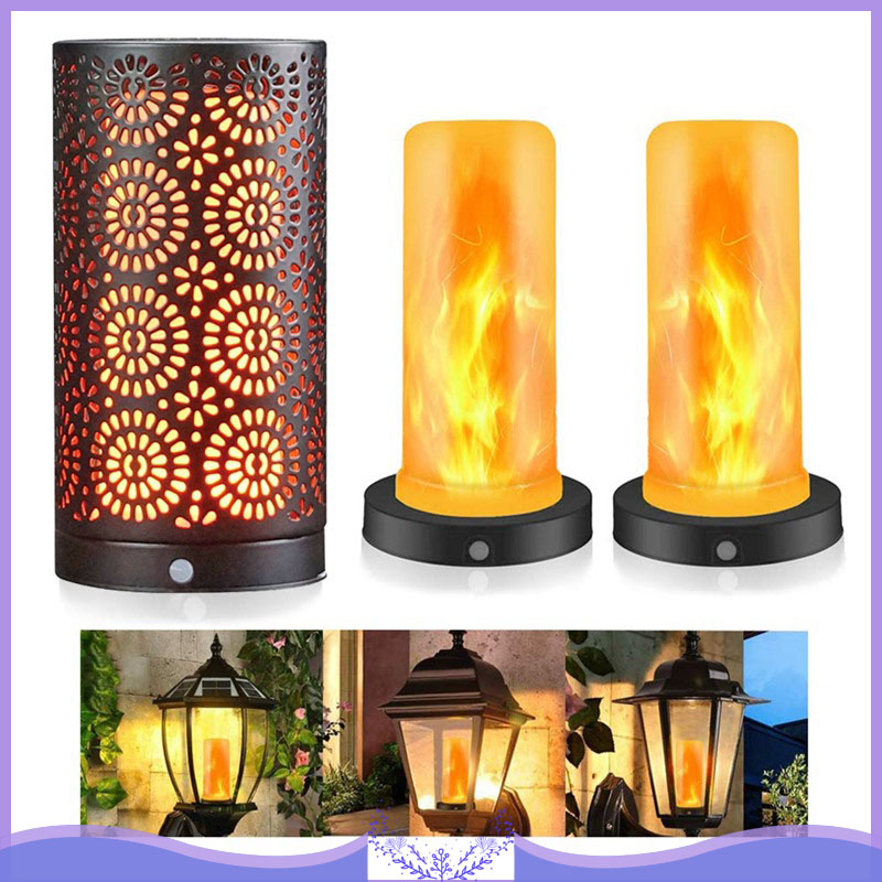LED Candle Light Flame Lamp Effect Magnetic 4 Modes With Upside Down Effect With Timer Function Battery Operated Flame Bulbs
