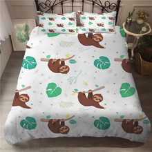 Bed Linen Single Bedspread Cartoon 3d Bed Sheet Set Cute Monkey Bedspread with Pillowcases for Children bedspread eponj home bedspread