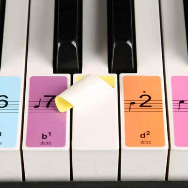 88/61/51 キー一般的な電子ピアノキーボード紙音名ステッカー