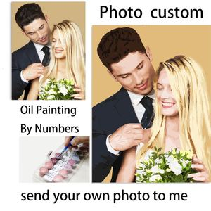 Tetasal Personality DIY Custom Painting by Numbers For Adults Photo Customized Kits Gift Digita Oil Paint Dropshipping On Canvas