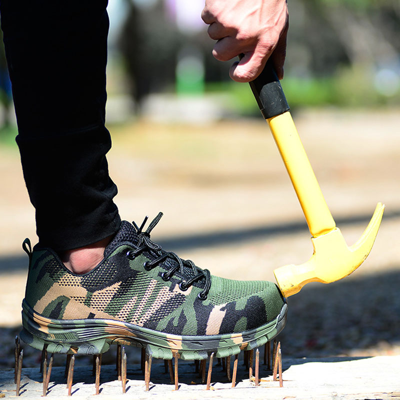 Camouflage Safety Shoes Men Indestructible Steel Toe Shoes Puncture Proof Work Safety Boots Men Construction Work Shoes Male 6