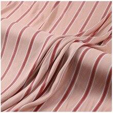 Cotton and linen fabric diy handmade clothes a pure cotton garment fabric shirt dress white striped cotton fabric  001