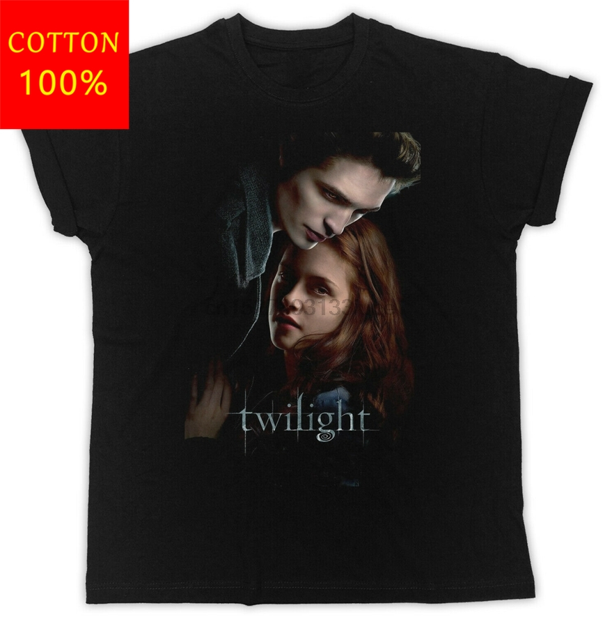 Cool Twilight Unisex Ideal Gift Present Black T Shirt For Youth <font><b>MiddleAge</b></font> The Old Tee Shirt image