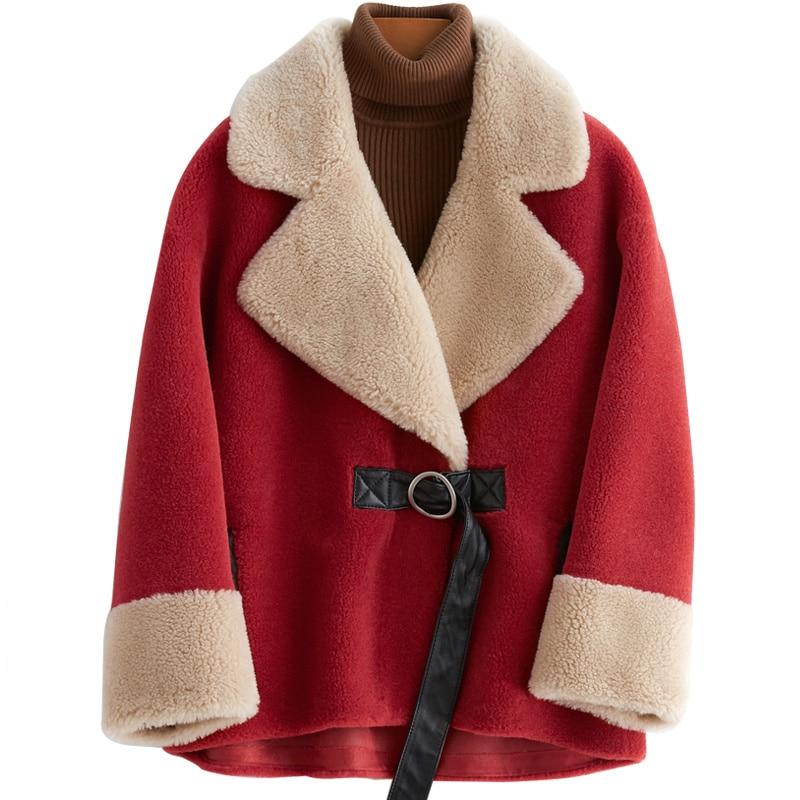 Autumn Winter Coat Women Clothes 2020 Wool Jacket Korean Vintage Real Fur Coat Sheep Shearling Tops Manteau Femme ZT3775