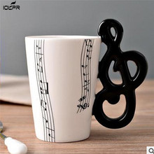 High Quality Ceramic Cup Personality Music Note Milk Juice Lemon Mug Coffee Tea Home Office Drinkware Unique Gift