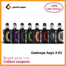 Geekvape Aegis X Kit 200W Vape Waterproof Electronic Cigarette Mod with Cerberus sub ohm tank 5.5ml Vaporizer Kit VS Aegis Solo