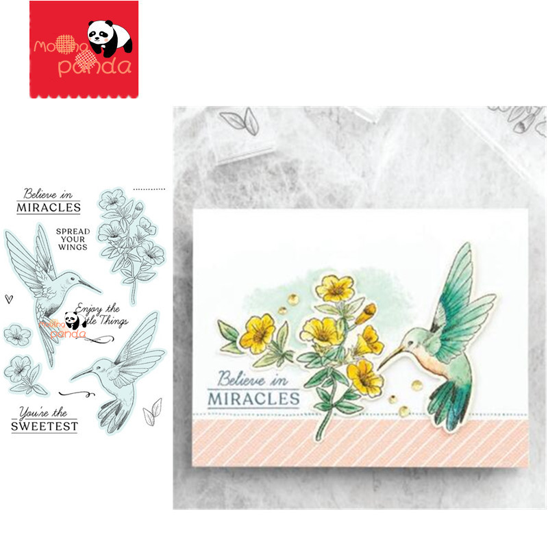 Hummingbird Metal Cutting Dies And Stamps For Cards Making Decor Scrapbooking Diecut Embossing Stencil Crafts